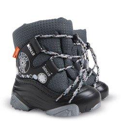 36a3864b8c96d Czarne śniegowce dziecięce wiązane Snow Ride NA