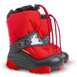 b5c8b6fea8d42 Czerwone śniegowce dziecięce dziecięce z bałwanem Snowman 2 NA